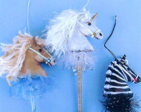 """SE948 - Horse Ornaments,  9"""" Painted Fabric Ornaments Sewing Pattern - PDF Download by Susan Barmore"""