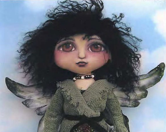 """SE440 - Tish, 15"""" Painted Fairy Fabric Doll Pattern,  Sewing Cloth Doll Pattern - PDF Download by Susan Barmore"""