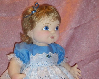 """Bonnie,  16"""" to 18"""" Baby Doll Sewing Pattern – PDF Download Doll Making Pattern by Darlene Rausch - DR103"""