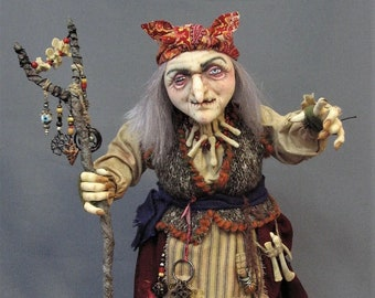 New! BABA YAGA - A Witch, Hag or Crone Cloth Doll Making Pattern by Arley Berryhill - PDF Instant Download E-Pattern