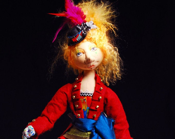 BS332E - Bettina the Ringmaster Cloth Doll Pattern -  PDF Download Sewing Pattern by Barbara Schoenoff