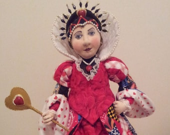 SR837E - The Queen of Hearts -  Storybook Cloth Doll Making Sewing Pattern by Suzette Rugolo, PDF Download