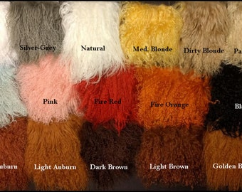 Tibetan Lamb - Beautiful Fur For Doll Hair/Wig on BJD and Art Dolls - Bleached, Natural, Auburn, Browns, Blondes, Pink, Red and More Colors!