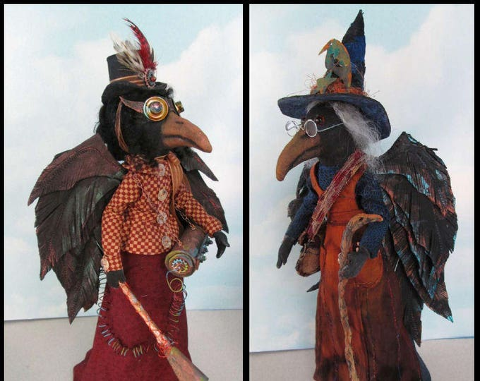 Doll Making Class – Witch and Steampunk Crow Art Dolls  by Susan Barmore (PDF Download) - SE527E