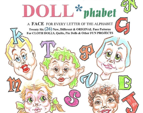 KK780E – DOLL-PHABET, PDF Tutorial Download - Doll Face Making