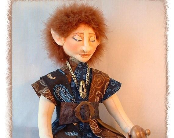 LA202E - Tye,  Cloth Elf Doll Making Sewing  Pattern - PDF Download