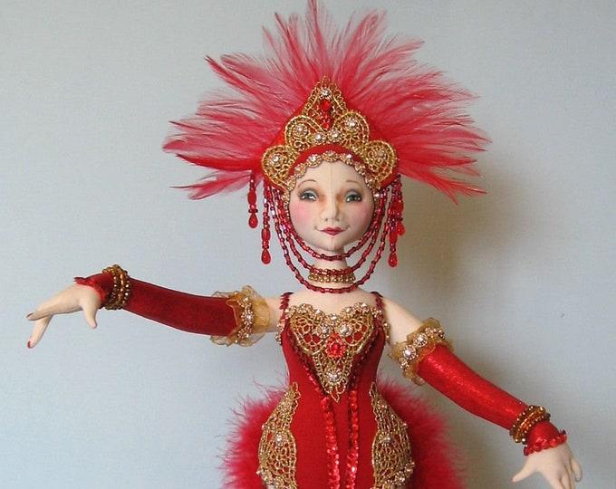 AB518E - Follies Showgirl  - Cloth Doll Making Sewing Pattern