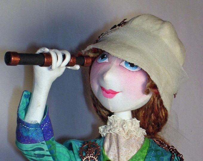 "NH706E – Tessa the Victorian Explorer, Cloth Doll Making Sewing Pattern - Steampunk 19"" Doll"