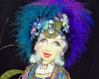 "CE704E– CORINA, Gypsy of the Enchanted Forest"", 15"" Cloth Doll Pattern - PDF"