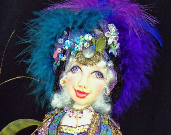 """CE704E– CORINA, Gypsy of the Enchanted Forest"""", 15"""" Cloth Doll Pattern - PDF"""