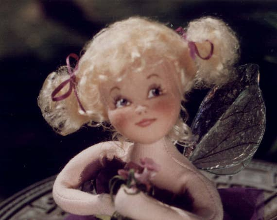 Viola, A Flower Fairy Cloth Doll Pattern - Doll Making E-Pattern - PDF