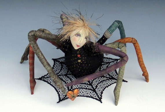 CR944E - Along Came A Spider Tutorial PDF Cloth Art Doll Download Instructions and Pattern