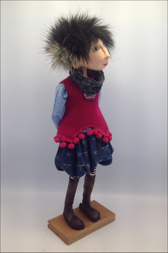 "Cloth Art Doll Pattern /""Abbey and Friends/"" By Jill Maas"
