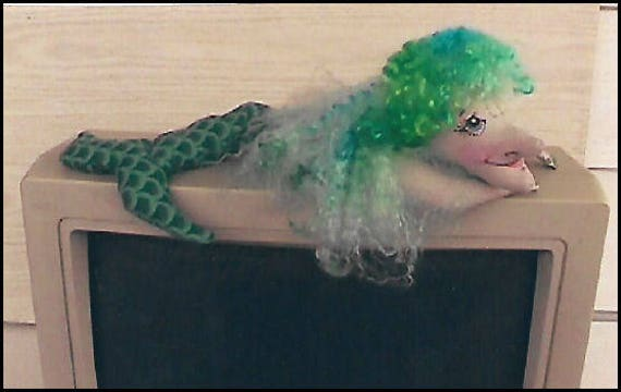 KK708E – Molly Mermaid Wrist Rest - Cloth Doll Making Sewing Pattern, PDF Download