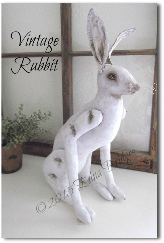 BR202E - Vintage Rabbit PDF Cloth Animal Doll Making Sewing Pattern