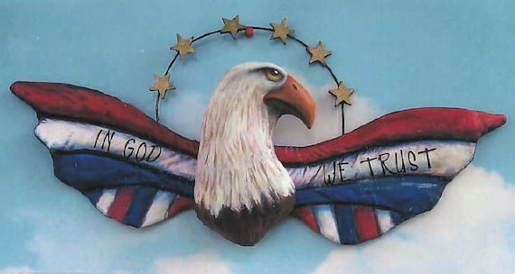 SE734 - In God We Trust,  Eagle Fabric Sewing Pattern - PDF Download by Susan Barmore