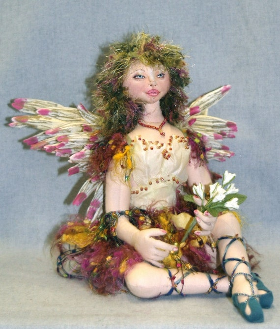 JS418E - Camille PDF Cloth Fairy Doll Download Pattern by Judy Skeel