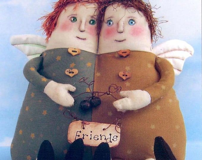 SE714E -  Angel Friends, Fabric Angels Doll Art Pattern - PDF Download by Susan Barmore