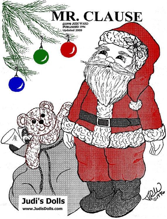 Judi Ward Original Design Mr Clause Santa Doll Cloth Doll