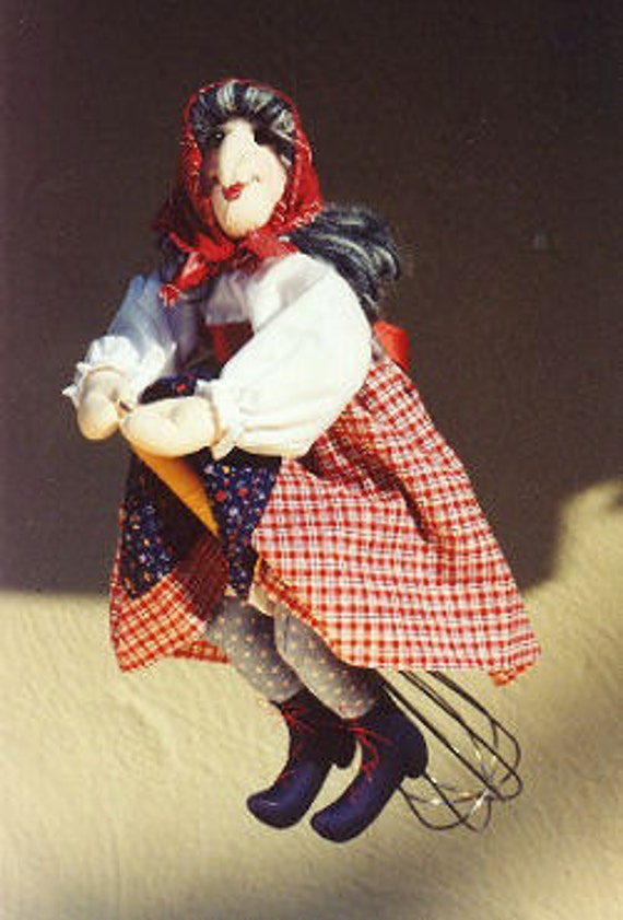 CA513E - Madame Mitzi, Kitchen Witch PDF Cloth Doll Making Sewing Pattern