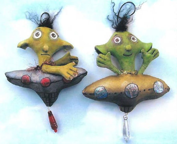 SE745 - Spaceship, Doll Ornament Pattern,  Sewing Cloth Doll Pattern - PDF Download by Susan Barmore