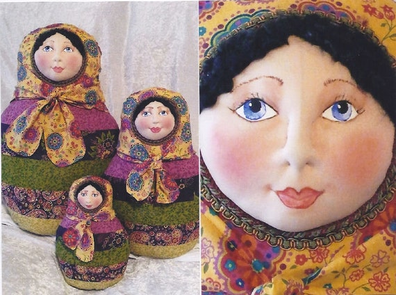 SR830E - Babushka -   Cloth Doll Making Sewing Pattern by Suzette Rugolo, PDF Download