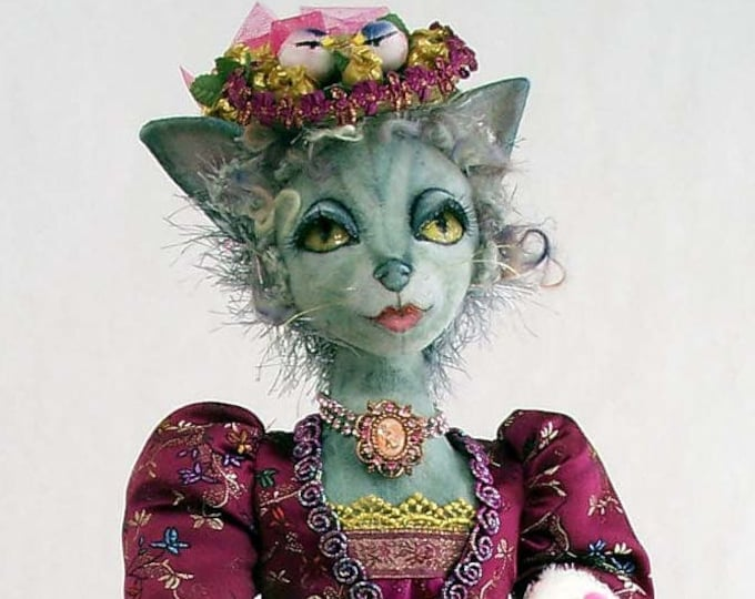 SI405E - Madame Le Chat PDF Cloth Doll Making Animal Sewing Pattern