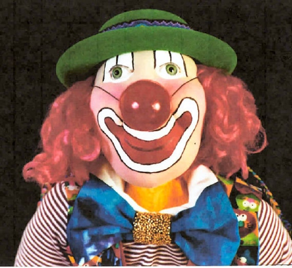 """SR802E - Alley Oop -  24"""" Clown Cloth Doll Making Sewing Pattern by Suzette Rugolo, PDF Download"""