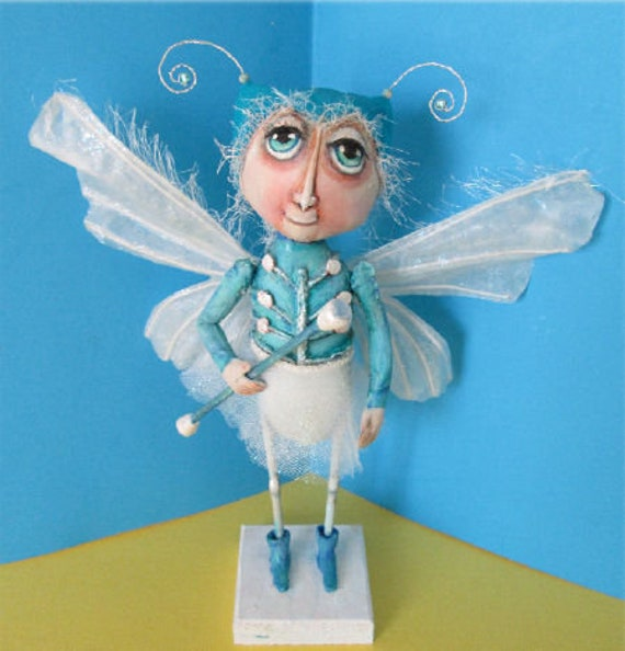 SE476 - Moth with Baton,  Fabric Doll Pattern,  Sewing Cloth Doll Pattern - PDF Download by Susan Barmore