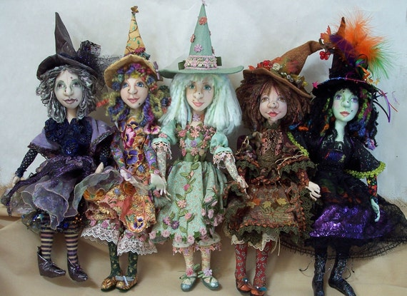 SI407E - Year of the Witch PDF Cloth Doll Making Pattern - Digital Download