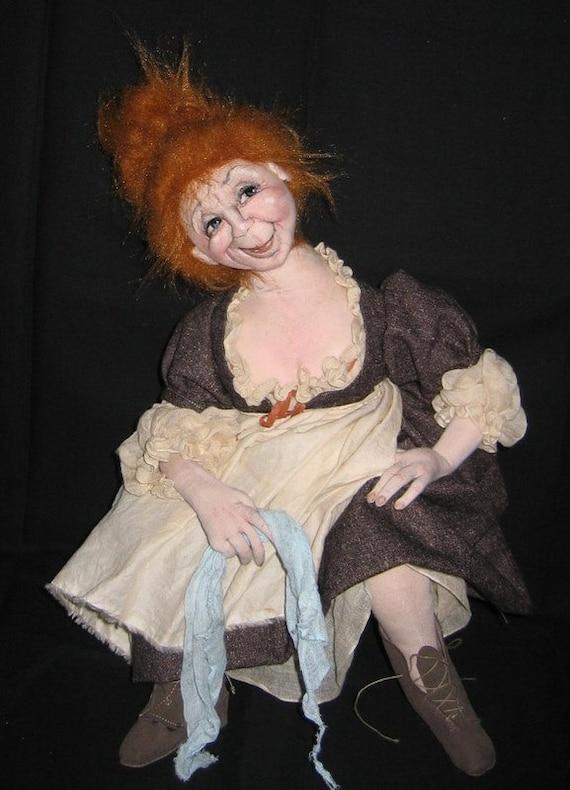 SM904E - Jeanne, The Inkeeper's Wife PDF Cloth Doll Making Sewing Pattern