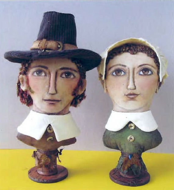 SE730 - Pilgrims,  Fabric Doll Pattern,  Sewing Cloth Doll Pattern - PDF Download by Susan Barmore