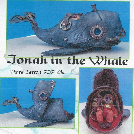"Doll Making Class – Jonah and the 16"" Whale, Steampunk Style!  Art Dolls by Susan Barmore (PDF Download) - SE512E"