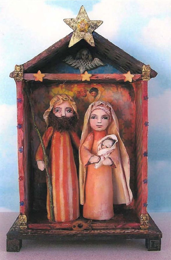 SE459E -  Nativity, Fabric Cloth Folk Art Doll Pattern - PDF Download by Susan Barmore