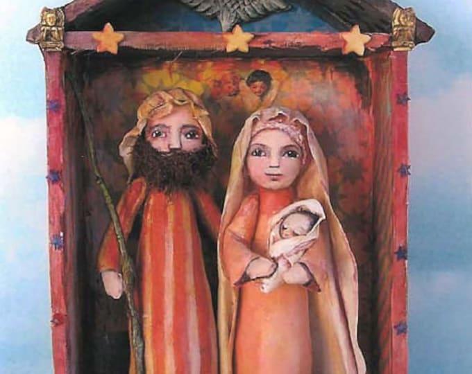 SE459E -  Nativity, Fabric Cloth Folk Art Doll Pattern - PDF Download by Susan Barmore