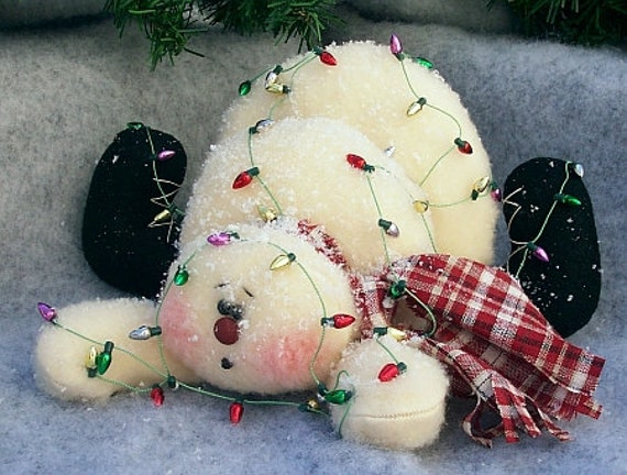 RP129E - Oops, I've Fallen PDF Cloth  Snowman Doll Pattern