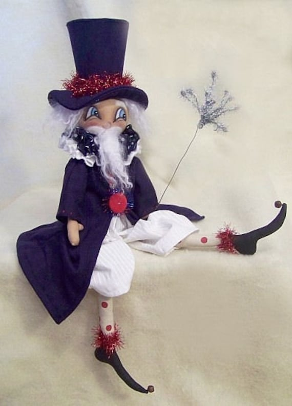 "RP349E - Sam I Am, 21"" PDF Download Folk Cloth Doll Pattern by Michelle Allen of Raggedy Pants Designs"