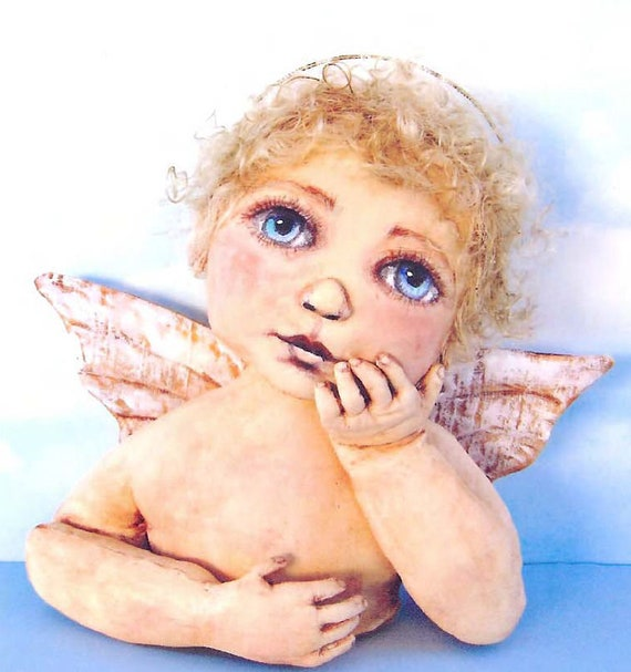SE420 -  Day Dreams, Painted Fabric Angel Doll Pattern,  Sewing Cloth Doll Pattern - PDF Download by Susan Barmore