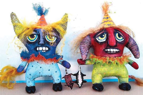 SE739 -  Road Kill,   Fabric Ornament Pattern,  Sewing Cloth Doll Pattern - PDF Download by Susan Barmore