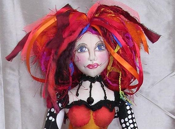 JX901E - Miss Fantastic PDF Download Cloth Doll Making Sewing Pattern - Art Doll