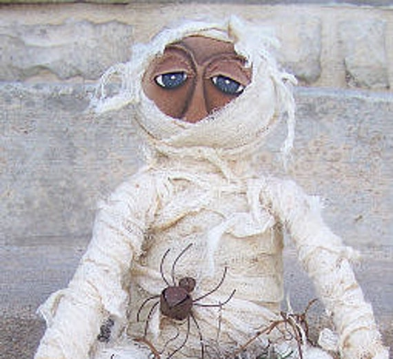 RP341E - Harvest Mummy PDF Cloth Doll Pattern - Download Today!