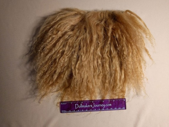 """Tibetan Lamb - Golden Brown - 6.5"""" by  4.75"""" Piece - Beautiful For Doll Hair/Wig on BJD, Art Dolls and All Dolls. T-130"""