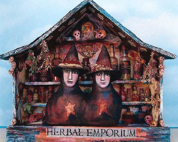 SE783 - Herbal Emporium,  Art Doll Pattern,  Sewing Cloth Doll Pattern - PDF Download by Susan Barmore