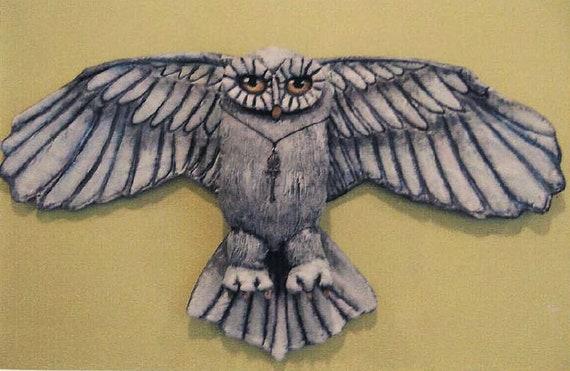 SE358E -  White Owl , Bird Doll Art Pattern - PDF Download by Susan Barmore