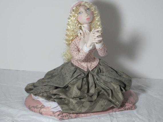 BS336E - February Girl, Evangeline PDF Cloth Doll Making Sewing Pattern