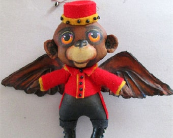 SE482 - Flying Monkey, Doll Ornament Pattern,  Sewing Cloth Doll Pattern - PDF Download by Susan Barmore