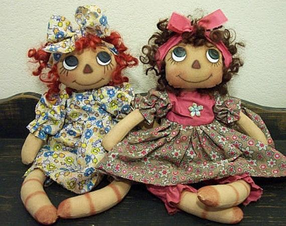 "RP316E - Flower Child, 14"" PDF Raggedy Ann Cloth Doll Pattern by Michelle Allen of Raggedy Pants Designs"