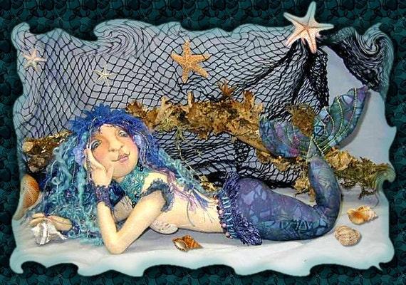 PL812E - Mareena PDF - Cloth Doll Making Pattern, Mermaid