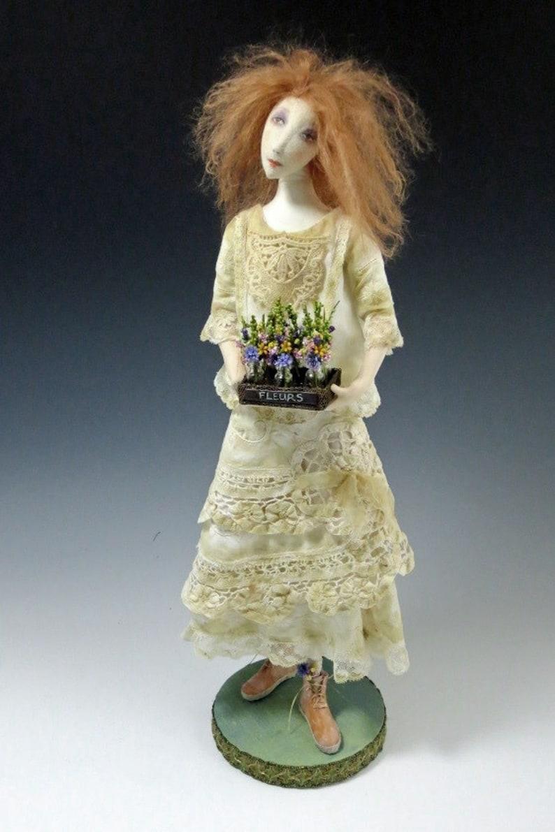 Wildflower 18 Cloth Art Doll Sewing Tutorial  PDF image 0