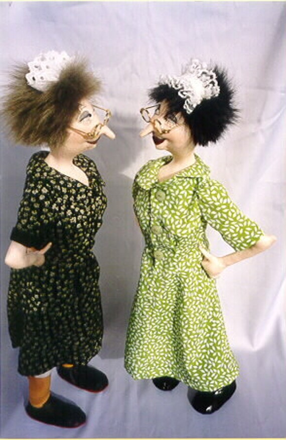JM903E - Maid Aggie, Cloth Art Doll EPattern - PDF Download by Jill Maas
